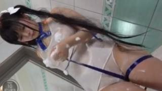 IV】 320x180 - 【ダンまち】『これ恥ずかしいよぉ…♡』ヘスティアコスの爆乳美少女が身体中泡泡になってたわわなおっぱいを揉み揉み!!【IV】